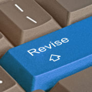 Keyboard with 'revision key' for copy editing.