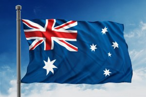 Australian flag signifying Australian writing.
