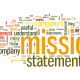 Word cloud image highlighting the word Mission Statement for writing a mission statement