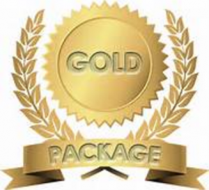Gold content writing packages medal